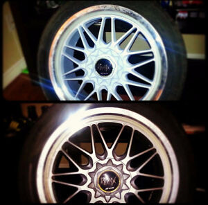 Works wheels staggard 5x100 5x114.3