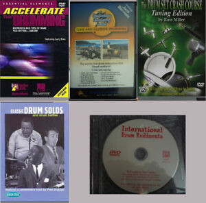 Drum Lesson DVD's Books and CD's improve drumming skills
