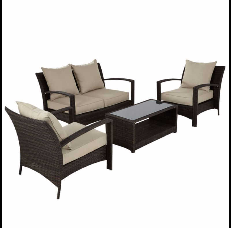 BRAND NEW ASDA Borneo 4 Piece Conversation Sofa Set. BRAND NEW ASDA Borneo 4 Piece Conversation Sofa Set   in Leicester