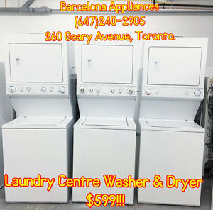 """LAUNDRY CENTRE 24"""" OR 27"""" SPECIAL SALE ONLY $599 1 YEAR WARRANTY"""