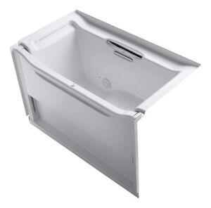 Kohler Elevance Rising Wall 60x34 alcove accessible bathtub