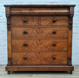 Antique Chest Of Six Drawers (DELIVERY AVAILABLE)