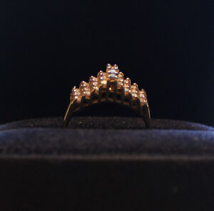 She will Love this for Christmas - 27 Diamond Cathedral Ring Kawartha Lakes Peterborough Area image 3