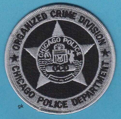 CHICAGO ORGANIZED CRIME DIVISION  OCD POLICE SHOULDER PATCH (Black)