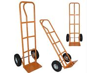 1 Orange 600lb Heavy Duty Sack Truck with inflated wheels