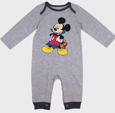 NWT BABY BOY MICKEY MOUSE HALLOWEEN ONE PIECE ROMPER  OUTFIT SIZE 0-3 MONTHS - Mickey Mouse Halloween Outfit