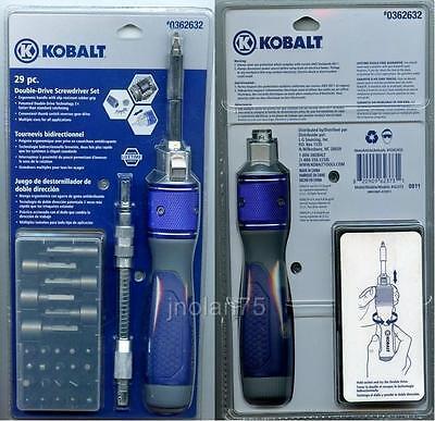 Original Kobalt 29 Pc Metal Switch Double Drive Screwdriver Flex Drive Extension
