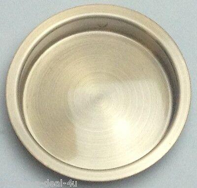Schlage Ives 221 B10 Satin Bronze, (Base Brass), Flush Pull  (10b Satin Brass)