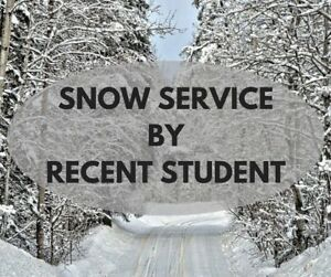 SNOW SERVICE BY RECENT STUDENT