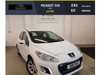 PEUGEOT 308 active CRUISE CONTROL, SERVICE HISTORY (white) 2017