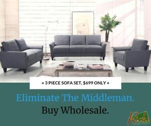 3 Piece Sofa Set, ONLY $499!! @ RICHI COLLECTION