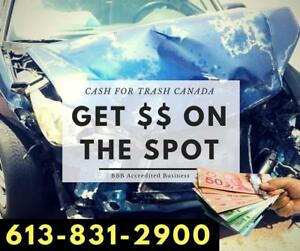 CA$H FOR TRASH Scrap Car Removal