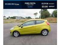 FORD FIESTA 1.0 ZETEC 2013, 1 Owner,Bluetooth,74mpg,£0 Road Tax,F.S.H,,Spotless Condition