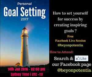 Personal Goal Setting Free Facebook Live Session Oakhurst Blacktown Area Preview
