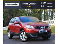 NISSAN QASHQAI 1.5 ACENTA DCI 5d 110 BHP RAC WARRANTY + BREAKDOWN COVER!! (red) 2011