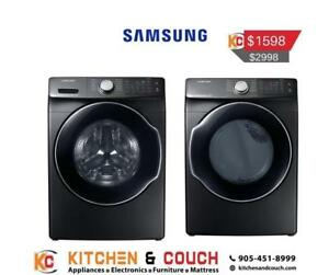 Samsung Electric Washer and Dryer Pair (SAM908)