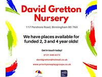 Nursery Places Available