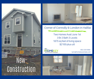 New Construction: Two 3Br 2Bth Homes Avail June 1st WestEnd