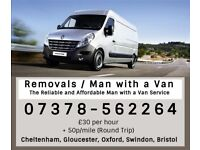 Man with a Van Cheltenham, Gloucester, Removals,Collection & Delivery of furniture Hire