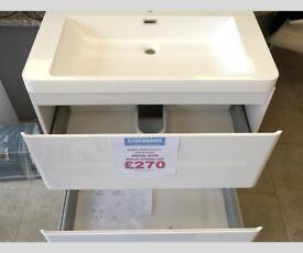 Sempra Floor-Standing Vanity Unit and Basin In Gloss White