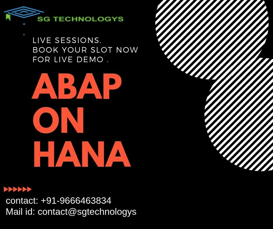 SAP ABAP Online Training with Server Access | SG Technologys
