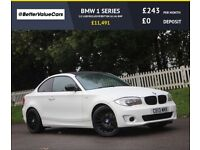 BMW 1 SERIES 2.0 118D EXCLUSIVE EDITION 2d 141 BHP RAC WARRANTY (white) 2013