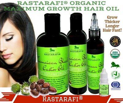 Rastarafi® Pure Jamaican Black Castor Oil Extra Dark/ Potent | Fast Hair Growth ()