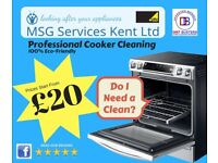 Professional cooker cleaning starting from £20