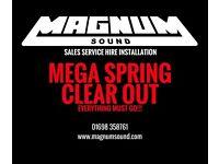 MAGNUM SOUND MEGA SPRING CLEAR OUT