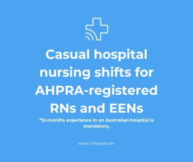 Casual Hospital Nursing Shifts Available NOW Sydney City Inner Sydney Preview
