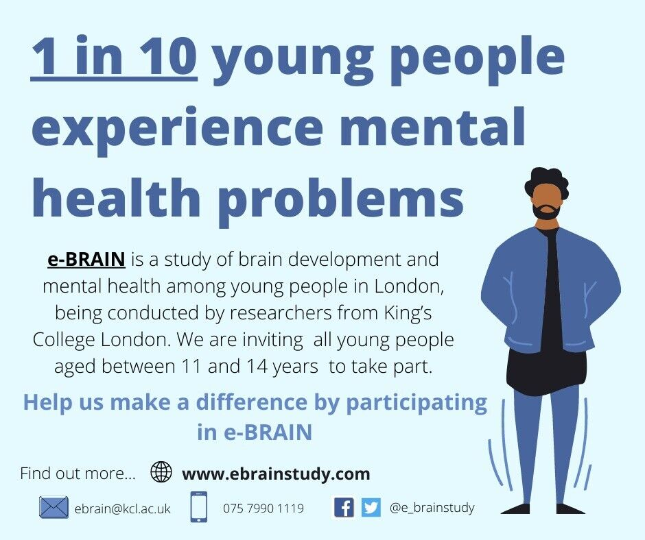 11 14 Year Old Participants Needed For A Study Of Early Experience And Brain Development At Kcl In Camberwell London Gumtree
