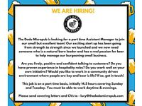 Part Time Assistant Manager to join The Dodo Micropub's small but excellent team!