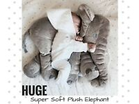 HUGE PLUSH STUFFED ANIMAL ELEPHANT SOFT TOY PILLOW BABY NURSERY DECORATION CUTE GIFT BRAND NEW
