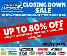 Up to 80% off Fishing Gear Closing Down Sale Scarborough Stirling Area Preview