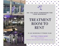 Treatment Room to rent in busy town centre Fitness Club. Perfect for Beauty/Sports Therapist