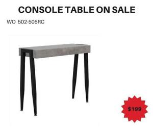 Light Grey Marble Top Console Table Sale Toronto-WO 7761 (BD-2634)