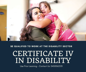 Get Your Aged Care/ Disability Qualification Within 2 Weeks ( RPL )