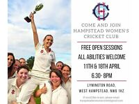 Hampstead Womens Cricket Club looking for new cricketers (experienced players & beginners!)