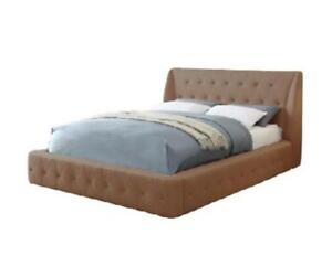 BROWN PLATFORM BED ON SALE (MA83)