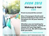 Prom Hair & Makeup - £55