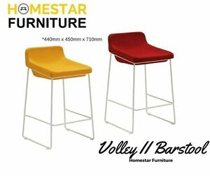 Volley II Barstool-Yellow and Cherry Red Fabric Sydney City Inner Sydney Preview
