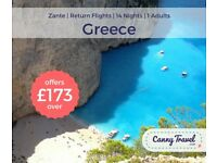 **SAVE 25% OFF THE AIRLINE'S PRICE** 1 RETURN FLIGHT TO GREECE from EDINBURGH