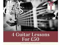 Guitar Lessons - CHRISTMAS OFFER - 4 LESSONS FOR £50