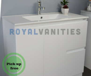 Bathroom Vanity Gloss White Ceramic - 900