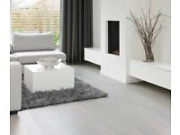 Brand New 5 x 4 yd White Click Laminate Flooring With Free Underlay, Free Beading & Free Measuring