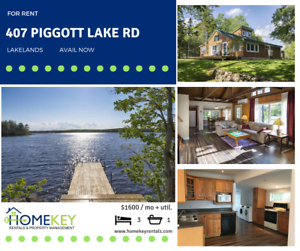 LAKEFRONT - 3Br Home on Piggott Lake Ask about RENTAL INCENTIVE!