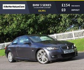 BMW 3 SERIES 3.0 325D M SPORT 2d 195 BHP RAC WARRANTY + BREAKDOWN COVER!! (grey) 2007