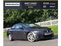 BMW 3 SERIES 3.0 325D M SPORT 2d 195 BHP RAC WARRANTY + BREAKDO (grey) 2007