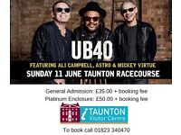 UB40 Tickets for Taunton Racecourse x2 and Car Parking Pass..