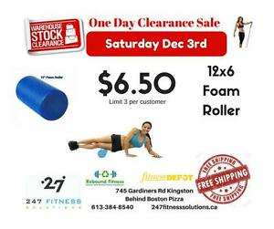 "12"" Foam Roller. Compare at up to $29.99. Just 6.50 ONE DAY ONLY! Some Limitations apply."